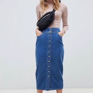 ASOS Midi Blue Jean skirt!!!💕